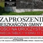 Pomnik w Cisnej w nowej odsłonie – uroczystość 11 listopada