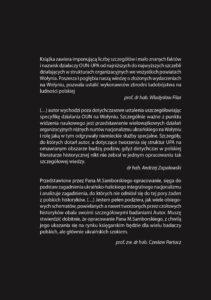 """Mieczysław Samborski: """"Sprawcy ludobójstwa Polaków na Wołyniu w czasie II wojny światowej"""" Wolyn Okladka tył"""