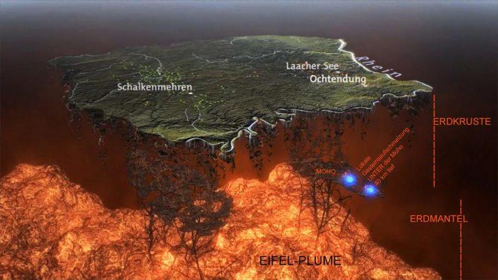 Superwulkan Laacher powoli wybudza się Wulkan Laacher See