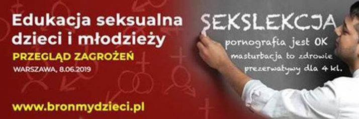 8 czerwca, Warszawa: Międzynarodowa konferencja - Edukacja seksualna dzieci i młodzieży. Przegląd zagrożeń. bronmydzieci 1
