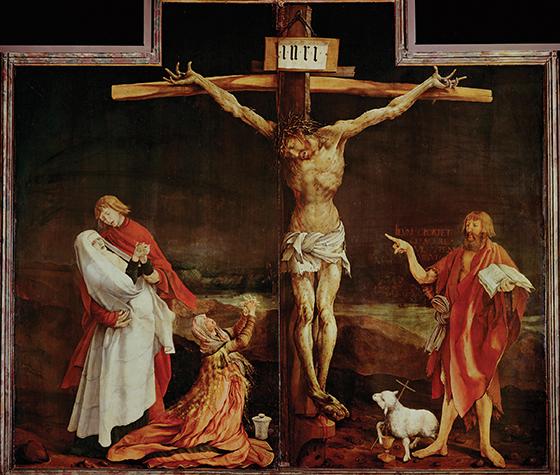 Wielki Piątek - odkupienie win i zbawienie wieczne dla części ludzkości Ukrzyzowanie Jezusa Chrystusa Grunewald