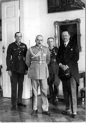 WPŁYW BITWY WARSZAWSKIEJ 1920 ROKU NA KAMPANIĘ WRZEŚNIOWĄ 1939 ROKU NAC 1929 Pilsudski Beck z ambasadorem Wloch