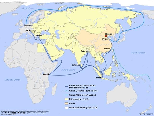Ruś Bałtycka – białoruska odpowiedź na Trójmorze arctic china blue economic route