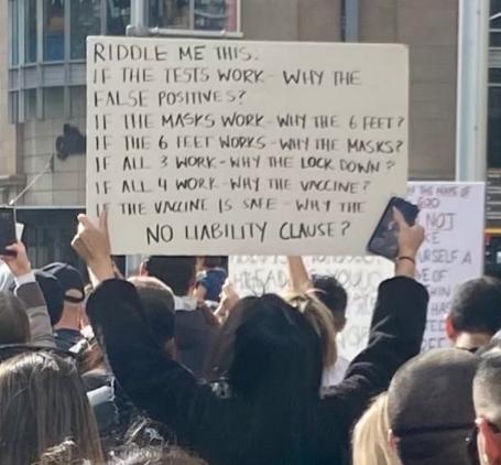 Masowe protesty przeciwko restrykcjom antykowidowym i segregacji sanitarnej obywateli (Francja, Irlandia, Wielka Brytania, Włochy, Australia) [+ WIDEO] Zagadka covidowa protest w Australii