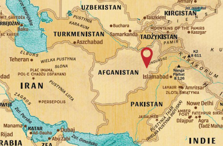 PolitykaPolska Afganistan i okolice mapa